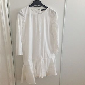 Zara white long sleeve dress
